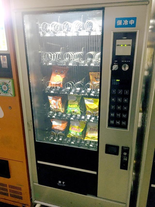 ポテト系菓子自販機写真
